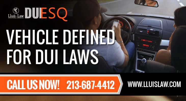 Vehicle Defined for DUI Laws